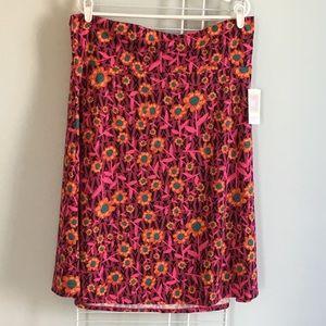 LuLaRoe Azure Skirt Pink with Flowers NEW 3XL